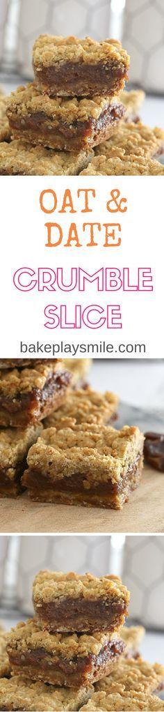 Vegan Oat & Date Crumble Slice