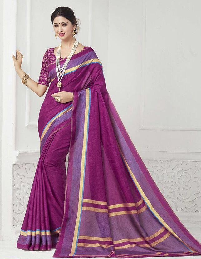 Traditional Khadi Silk Saree With silk blouse