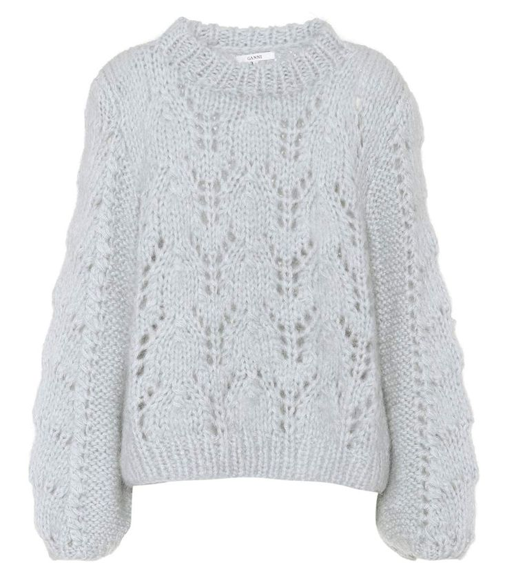 Faucher blue wool and mohair sweater