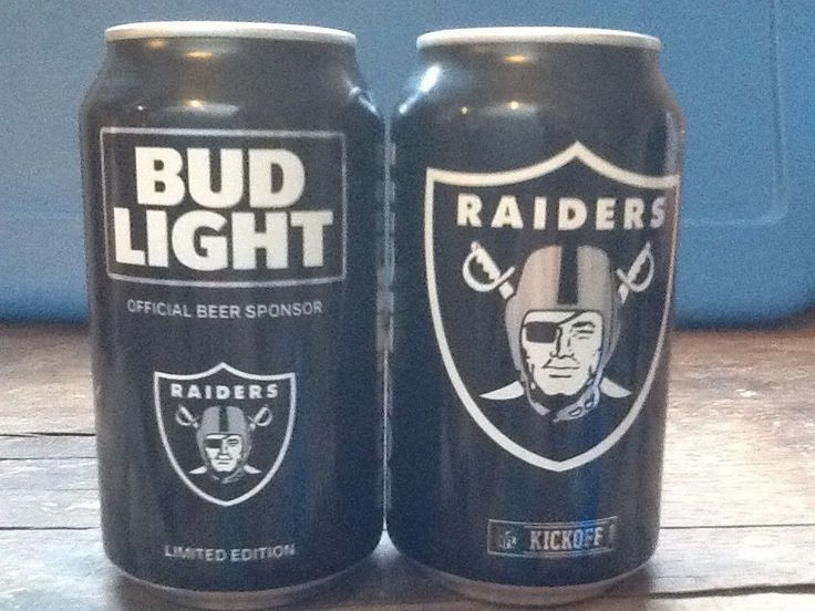 Raider Bud Light Beer Cans