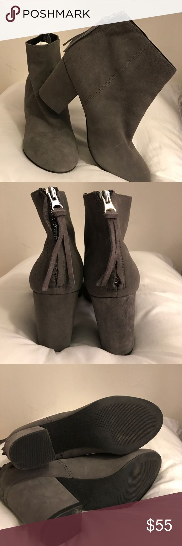 Steve Madden Cynthia booties Awesome grey suede Steve Madden booties. Only worn once!! Looks great with dresses, skirts, or jeans! Steve Madden Shoes Ankle Boots & Booties