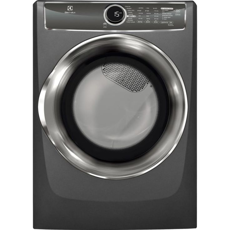 electrolux efmg617s 27 inch wide 8 cu ft energy star rated gas dryer with