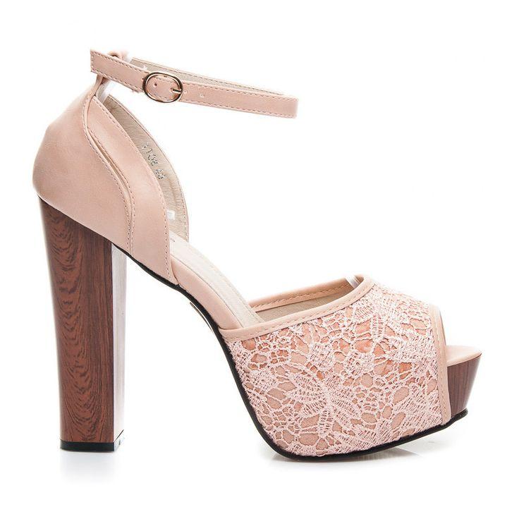 KORONKOWE SANDAŁY LITY - odcienie różu > CzasNaButy.pl > buty i torebki