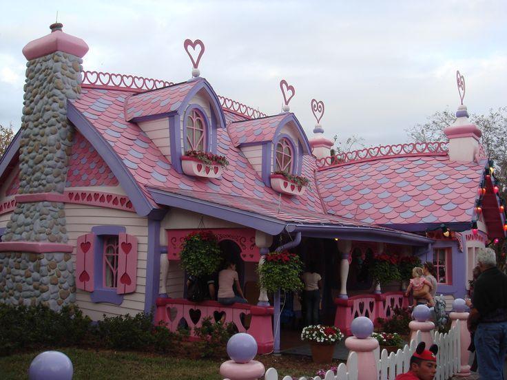 Minnie Mouse S House Disneyland Florida Disney Holiday