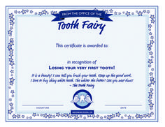 Tooth Fairy DIY Series : Tooth Fairy Certificate Template - Madison Family Dental Associates