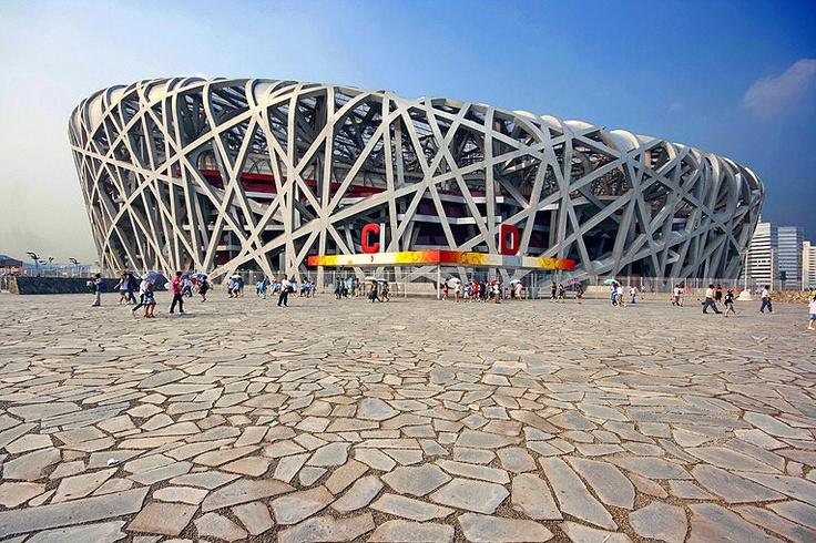 "Beijing ""Bird's Nest"" National Stadium designed by Herzog & de Meuron"