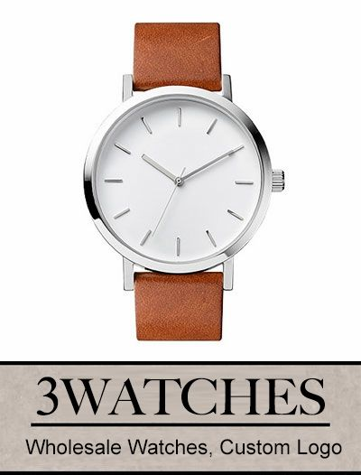 Thehorse Wholesale Watches. Custom Logo. Polished Steel/White Face/Tan Leather. Visiting: http://www.3watches.com/horse-watch/