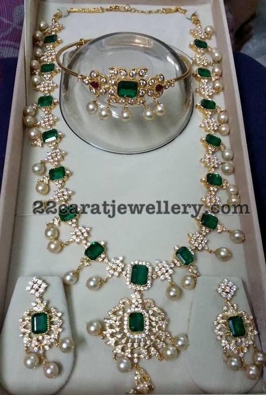 CZ Emerald Long Set Armband - Jewellery Designs