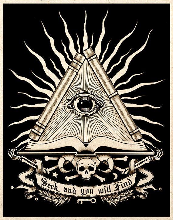 Todo arte de la alquimia esotérica ver ojo por TigerHouseArt