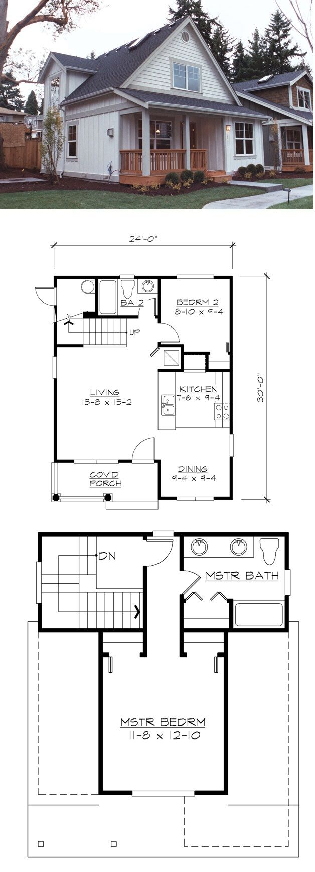 Marvelous Plan 2396JD: Small Home Plan With Two Exterior Choices