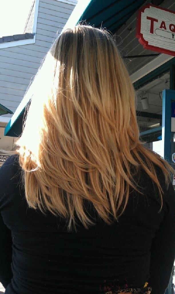 Medium Layered Hairstyles Back View #hair #layers