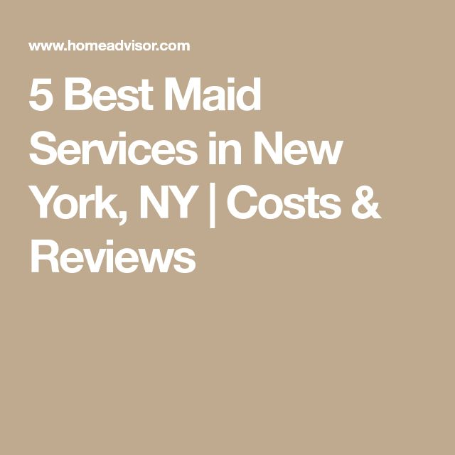 5 Best Maid Services in New York, NY | Costs & Reviews