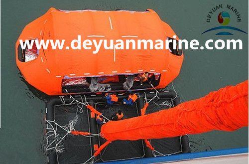 Single chute vertical passage Marine Evacuation System