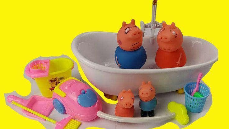 Peppa Pig toys video | peppa pig Bathroom house | Peppa pig toys english...