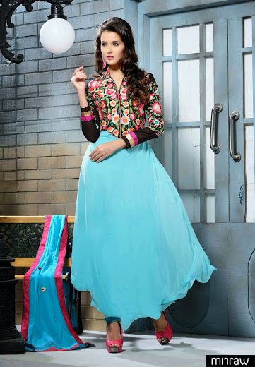 Beautiful frock style salwar kameez