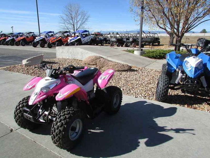 Used 2013 Polaris Outlaw 50 Pink Le ATVs For Sale in Colorado. 2013 Polaris Outlaw 50 Pink Le, 2013 Polaris® Outlaw® 50 BEST SELLING YOUTH ATV Outlaw® 50 - Best-Selling Youth ATV. Polaris® builds the best-selling youth ATVs. The Outlaw® 50 has a 4-stroke 50 engine, 2WD and electric start. Features May Include 4-Stroke Engine Two-Wheel Drive Electric Start Daytime Running Lights Parent-Adjustable Speed Limiter Safety Tether Long-Travel Rear Suspension Helmet Included Safety Flag…