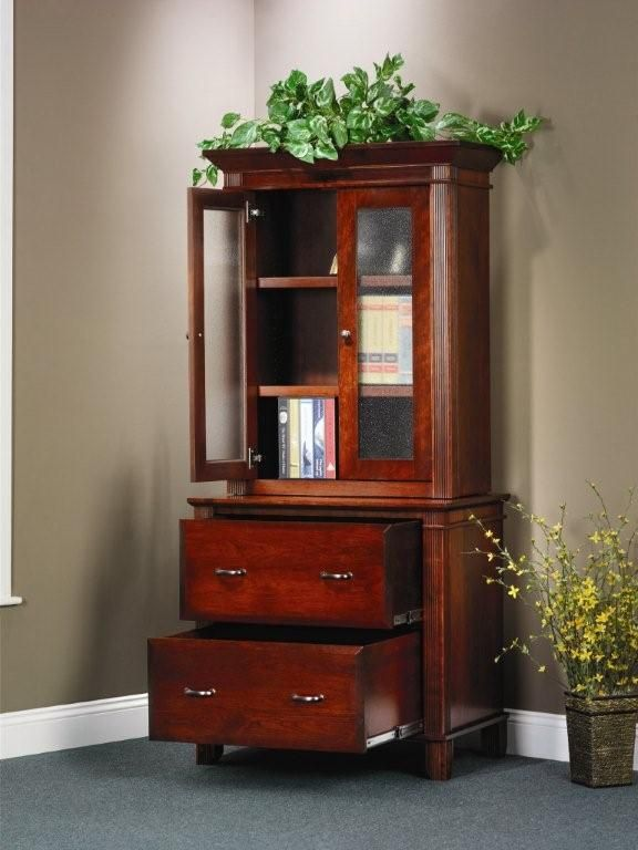 Amish Arlington Executive Lateral File Cabinet with Hutch Bookcase - 13 Best For The Office Images On Pinterest