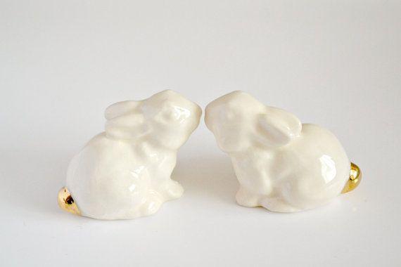 Wedding cake topper bunny rabbits  Wedding by JasminBlancBoutique, $36.00