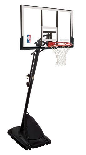 """Spalding 66291 Pro Slam Portable Basketball System with 54"""" Acrylic Backboard by Spalding. $348.59. Product Description                A Division of Russell Brands, LLC, Spalding is the largest basketball equipment supplier in the world, and America's first baseball company. Spalding is the official basketball of the National Basketball Association (NBA) and Women's National Basketball Association (WNBA), the official backboard of the NBA and NCAA, the official baseball of ..."""