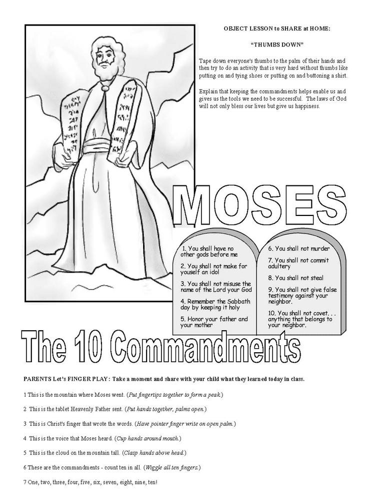 february week 4  10 commandments cute finger play  object