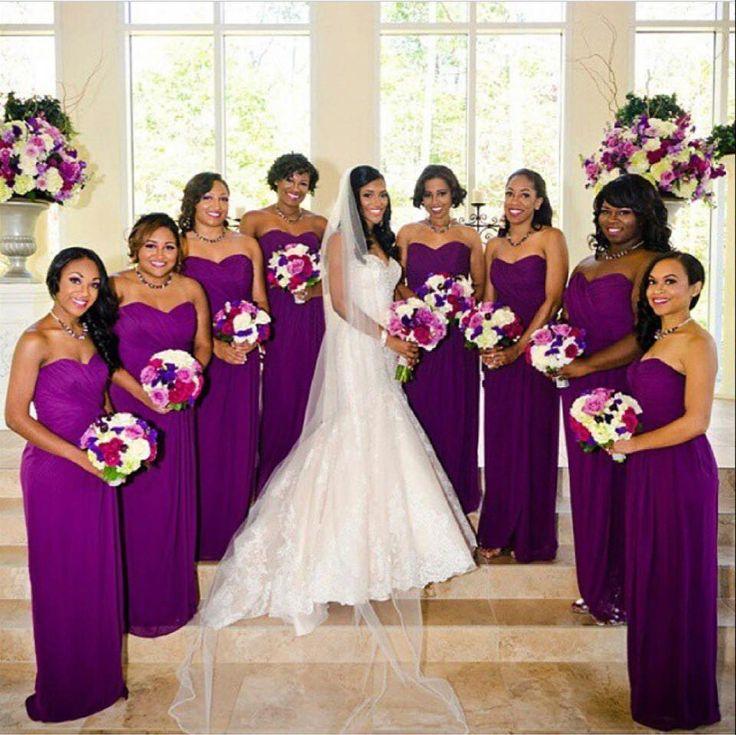 Royal Purple Nigerian Wedding. Photo by Fotos by Fola