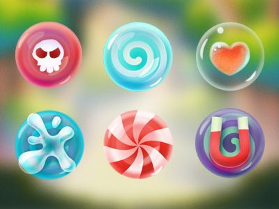 Candy in Candymeleon iOS Game by Sittitsak jiampotjaman