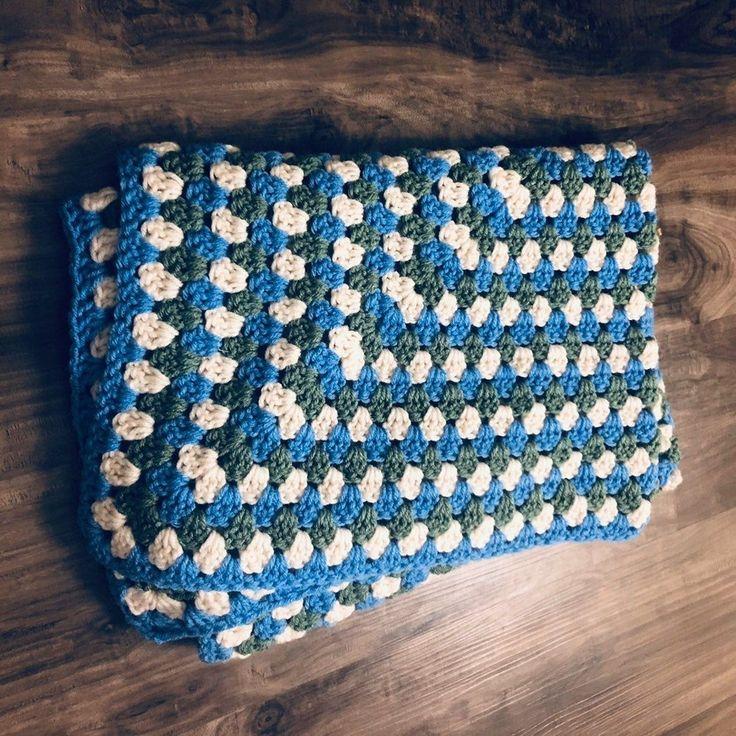Handmade Knit Baby Blanket Afghan#afghan #baby #blanket #handmade #knit