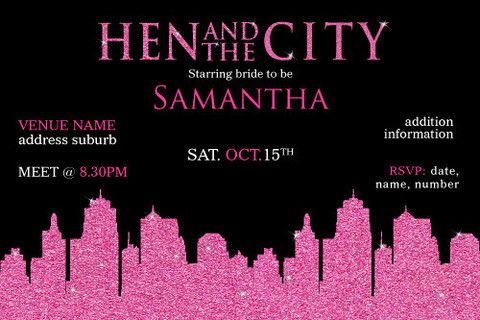 bachelorette parties, bachelorette party, bachelorette party invites, bachelorette party supplies, bachelorette party themes, digital printable invitations, hen party ideas, hen party invites, hen party themes, hens party ideas, occasions collection, occasions collections  bachelorette invitations, sex and the city invitations template, sex in the city themed party