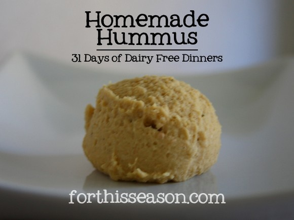 Best 20 hummus recipes without tahini: Homemade hummus (dairy free) recipe by For This Season