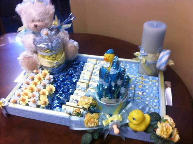 decorated tray with fancy ribbons charms accessories for