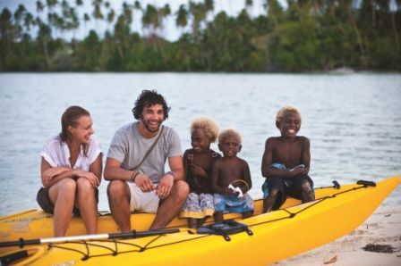 One thing that stands out throughout any kayak adventure is the people of Papua New Guinea. Smiles are usually all around as you pass the numerous villages and the waving hands of the locals show the vibrancy and openness that the people want to share with every visitor that kayaks pass. | http://www.papuanewguinea.travel/kayaking