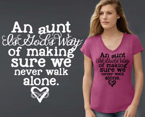 An Aunt is God's Way  Aunt Gifts  Mother's Day  by KorenaLoves