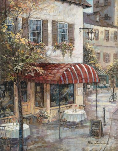 Coffee House Ambiance Print by Ruane Manning at Art.com
