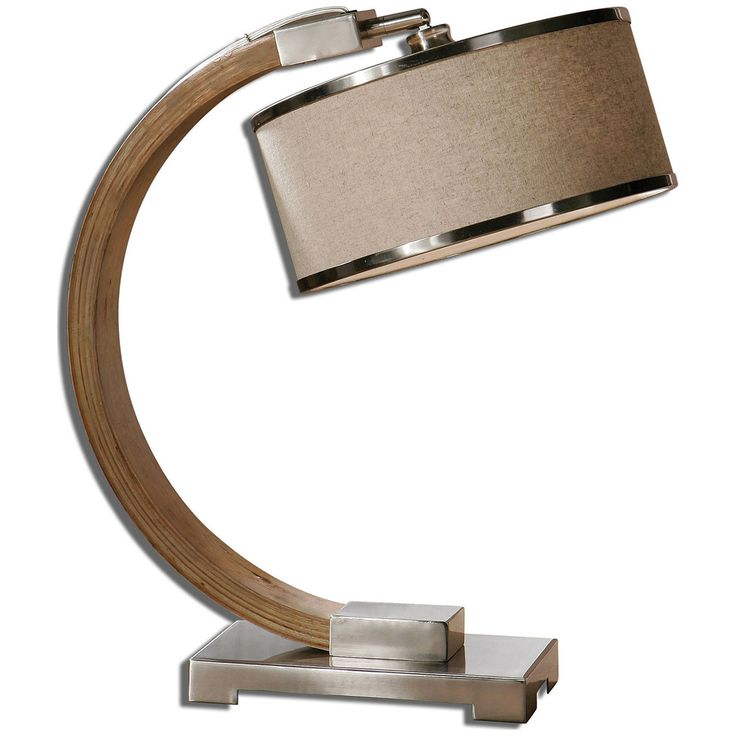 Uttermost Metauro Wood Desk Lamp 26577-1