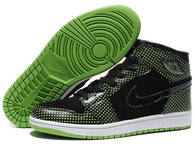 Air Jordan 1 / point of the wave green black male Basketball Shoes HOT SALE! HOT PRICE!