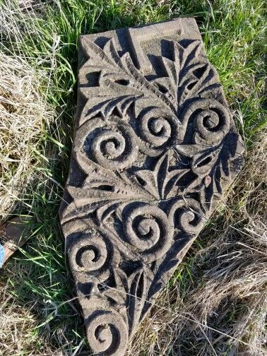 Red sandstone carving from an old building. For sale 3199310274
