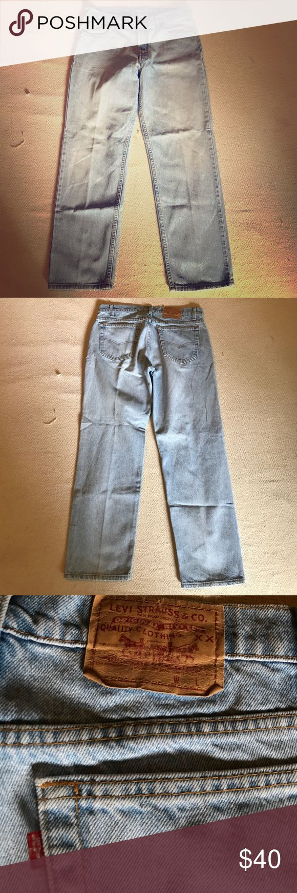 Levi's 506 vintage 36 x 30 jeans light wash USA USA made vintage Levi's jeans size 36 x 30 506 series we ship fast check these out! Levi's Jeans Straight