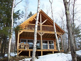 Secluded, Modern, Pine Cottage on 70 Acre Wilderness Pond ,130 acre wooded lot. Eagles Nest cottage has two bedrooms plus a loft and sleeps eight. It is on...