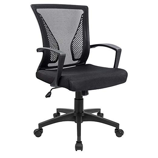 Amazon Com Furmax Office Chair Mid Back Swivel Lumbar Support Desk Chair Computer Ergonomic Mes Best Office Chair Ergonomic Office Chair Office Chairs Online