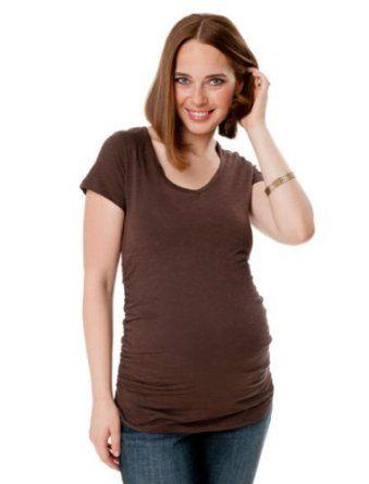Motherhood Maternity: Short Sleeve V-neck Side Ruched Maternity T Shirt Motherhood Maternity. $19.99