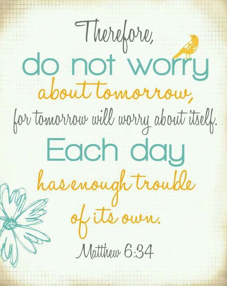Mateus 6:34 - Versículo Bíblico
