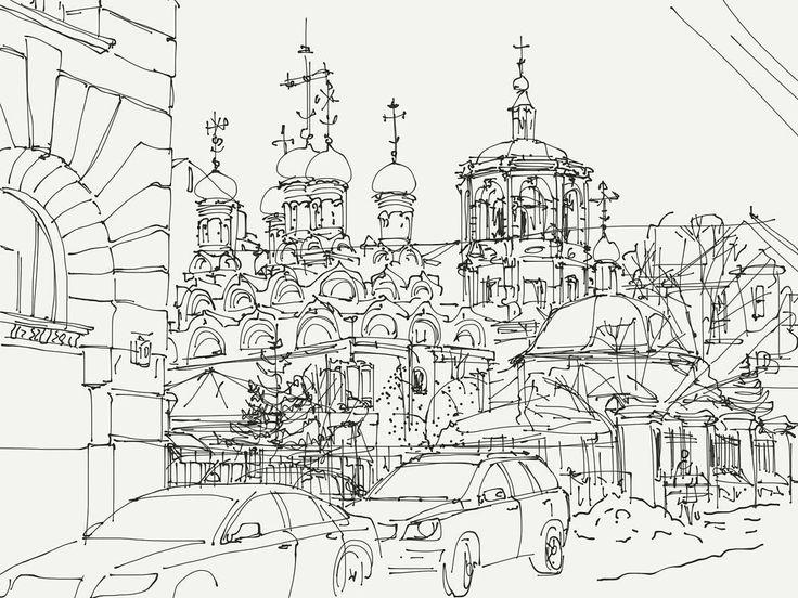 On instagram by enki_13 #madewithpaper #enclavedepod (o) http://ift.tt/1RCIsGj #urbansketchers #urbansketchersmoscow #sketch #sketching #drawing #ipad  #paperby53 #art #sketch #art_rain #art  #arcitecture #cityscape #city #evening #streetview #street #Moscow #Russia #winter #plainair #Россия #Москва #город #зима #рисунок