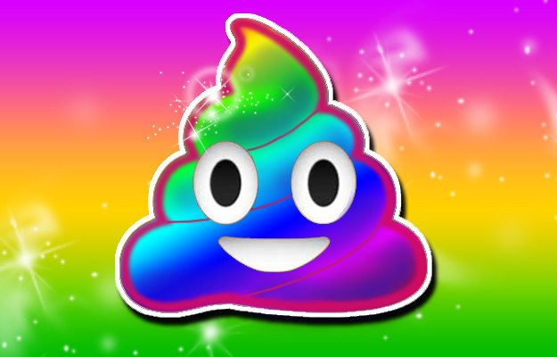 Rainbow Poo: | 14 Lisa Frank Emojis You'll Wish Were Real