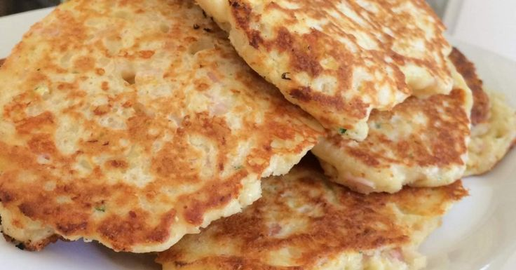 Ham, sweetcorn and cheese mini pancakes