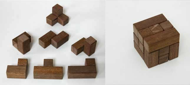 Make wooden puzzles, how to make a Soma cube puzzle using only basic woodworking tools. Amaze your friends and family.