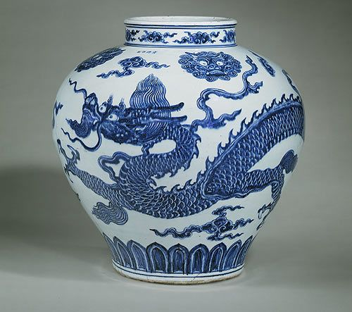 Jar, Ming dynasty, Xuande mark and period (1426–1435)  China  Porcelain painted in underglaze blue