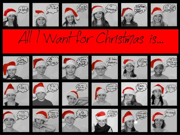A mock-up for our classroom Christmas photo this year! @Jaime Brodeur