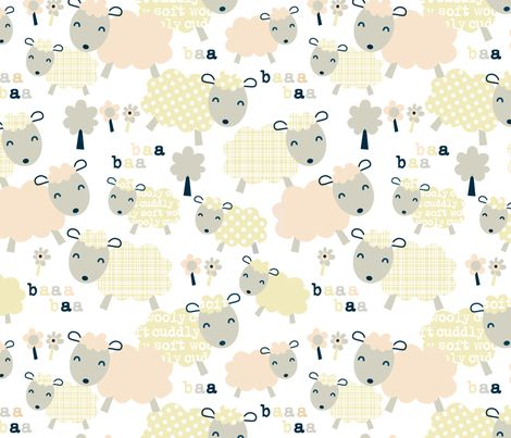 [Kid's PJs] Baa-ha-ha fabric by amel24 on Spoonflower - custom fabric