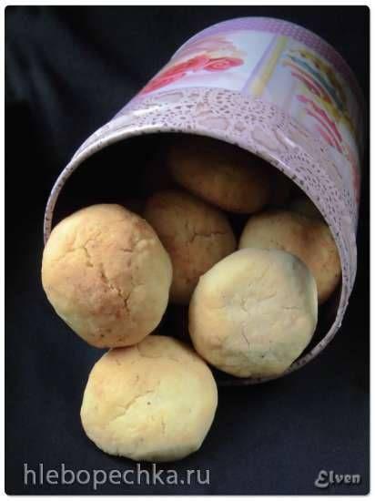 Кокосовое песочное печенье с лавандой (без яиц)