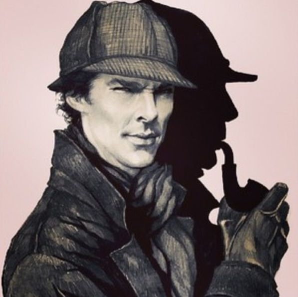 This is one of the best pieces of art I've ever seen crossing over the classic with the new Sherlock. Me likie...